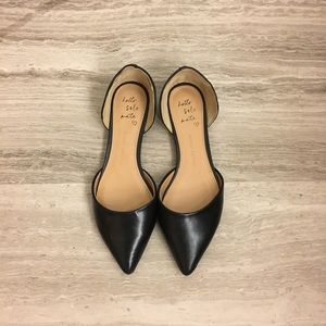 Banana Republic Black Leather Aiden D'Orsay Flat